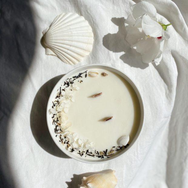 Heaven bol fleuri blanc